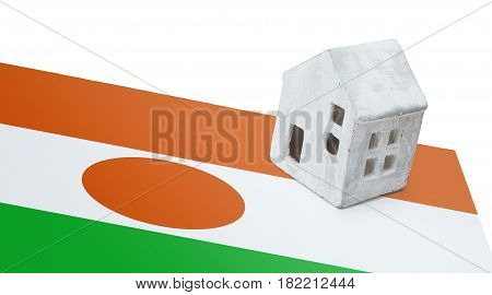 Small House On A Flag - Niger