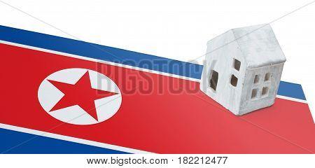 Small House On A Flag - North Korea