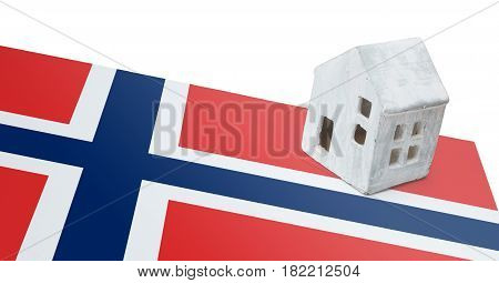 Small House On A Flag - Norway