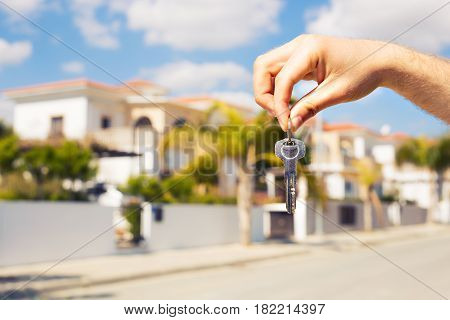 key in hand for new home and real estate.