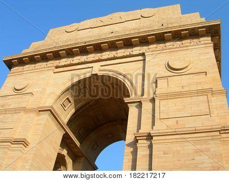 India Gate Arch In New Delhi India
