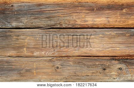Texture of old weathered wooden wall surface