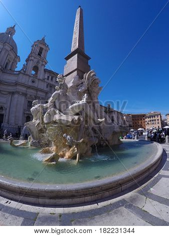 Piazza Navona In Rome, Italy.
