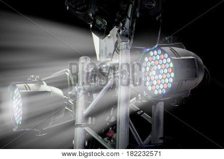 LED RGB trade show high power lighting or indoor booth presentation flood light