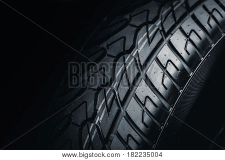 Clean Tyre, Black New Shiny Car Tire Background