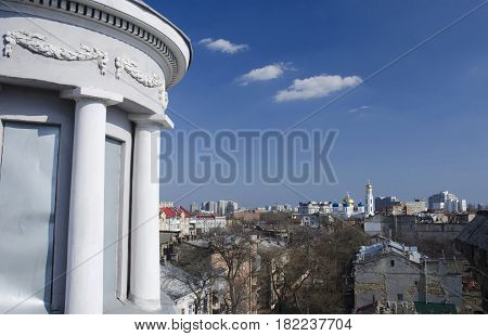 Aerial view of old town Odessa with orthodox cathedral,Ukraine,Europe