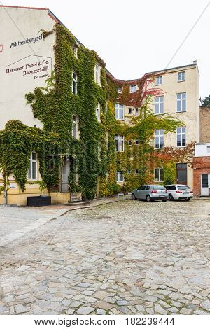 COTTBUS GERMANY - OCTOBER 18 2016: Autumn colors. Cottbus is a university city and the second-largest city in federal state of Brandenburg.