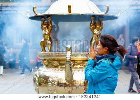 Lungshan Temple Of Manka In Taiwan