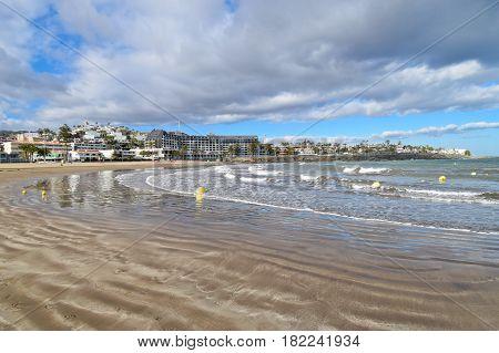 Playa de San Augustin Beach in Gran Canaria