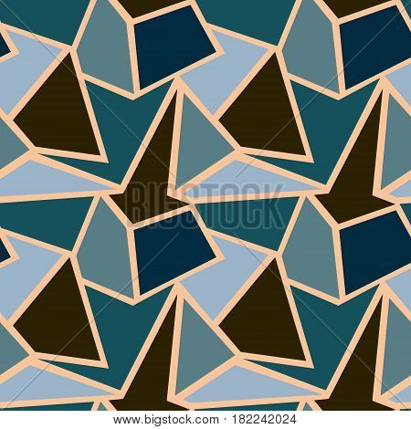 Seamless vector geometric patterns. Background with triangles in pastel colors. Graphic illustration. Print for wrapping, wallpaper, decor, surface