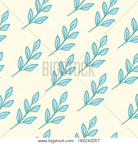 Seamless Floral Pattern Blue