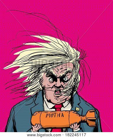 Donald Trump Holding Orange Bomb
