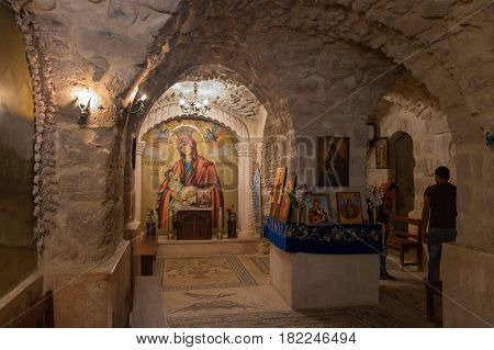 Mother Of God Picture In Monastery Of St Gerasimus