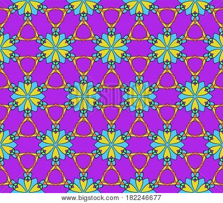 Seamless Flower Pattern. Abstract Vector Illustration. Multi Color. For Design Invitation, Backgroun