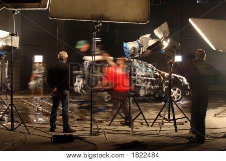 In A Film Studio