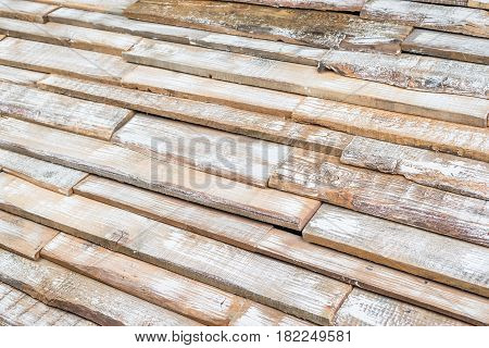 Horizontal background. Texture of old wooden boards as the outgoing prospect
