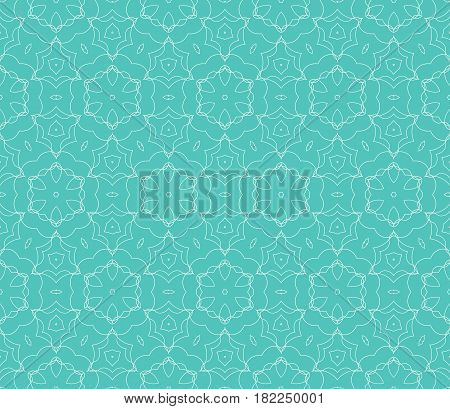 Romantic Geometric Floral Seamless Pattern. Vector Illustration. For Modern Interior Design, Fashion