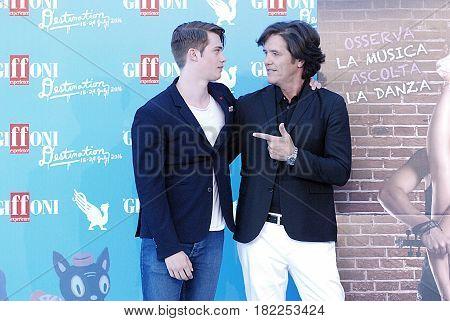 Giffoni Valle Piana Sa Italy - July 18 2016 : Nicholas Galitzine and Michael Damian at Giffoni Film Festival 2016 - on July 18 2016 in Giffoni Valle Piana Italy