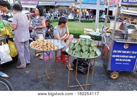Street Food In Asia. Mekong Delta, Vietnam
