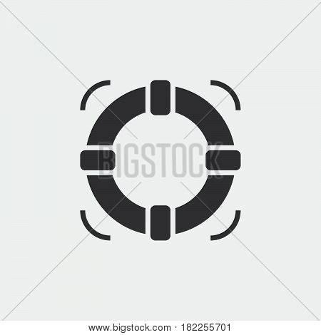 Lifebuoy Solid Icon, Help Vector Illustration, Pictogram Isolated On White