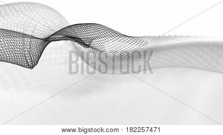 Abstract wave structure against a white background