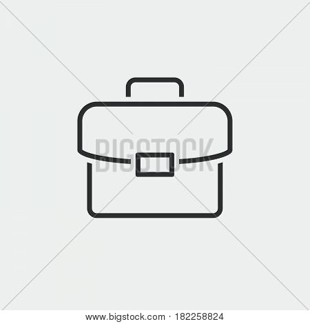 Briefcase Line Icon, Portfolio Outline Vector Illustration, Linear Pictogram Isolated On White