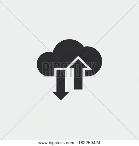 cloud sync solid icon vector illustration pictogram isolated on white