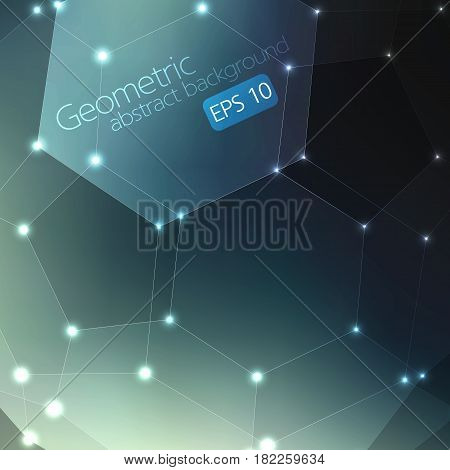 Abstract geometric background. Elegant background for cards and invitations. Fullerene molecule.