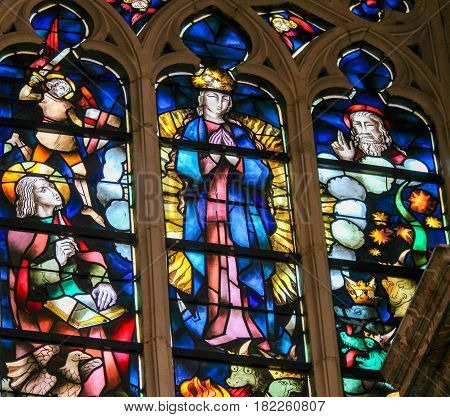 Stained Glass - Assumption Of The Blessed Virgin Mary