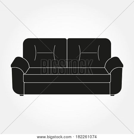 Sofa icon. Furniture for living room. Vector illustration of modern sofa.