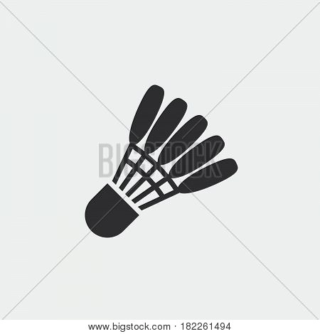 Shuttlecock icon isolated on grey background .