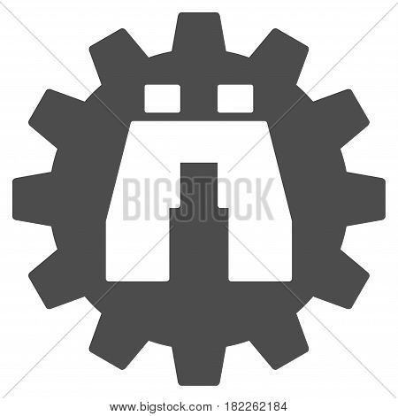 Binoculars Find Options vector icon. Illustration style is a flat iconic grey symbol on a white background.