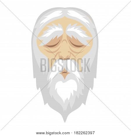 A wise, old cartoon man with and a long white beard vector