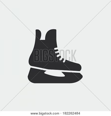 skates icon isolated on grey background .