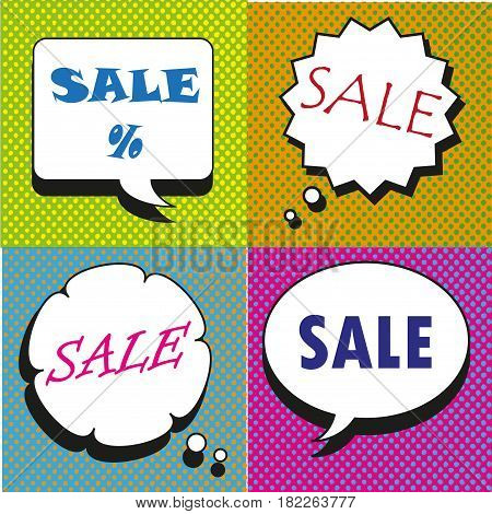 Great Sale speech bubbles collection vector art