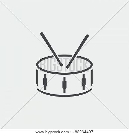 snare drum icon isolated on grey background
