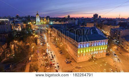 St. Sophia Cathedral, on Sophia Square in Kyiv, Ukraine.