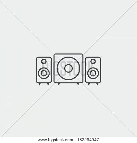 stereo system icon isolated on grey background