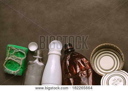 Disposal of household waste. Empty space. Conceptual photo