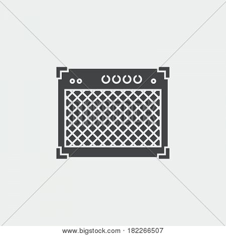 guitar amplifier icon isolated on grey background