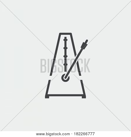 metronome icon isolated on grey background .