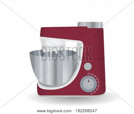 Kitchen appliances. Food processor. Vector Illustraion EPS10