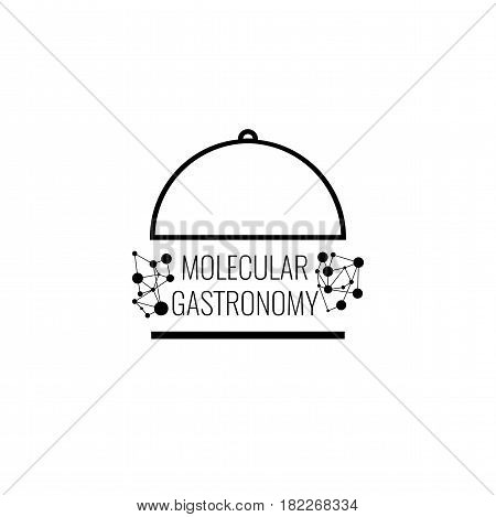 Molecular Gastronomy logo with connection background. Stock vector.