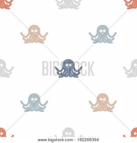 Octopuses abstract seamless background pattern. Stock vector.