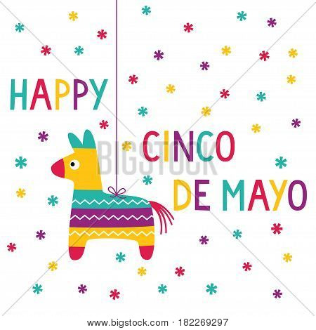 Cinco de Mayo card with a pinata