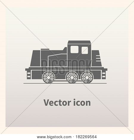 Locomotive icon isolated on background. Vector illustration.