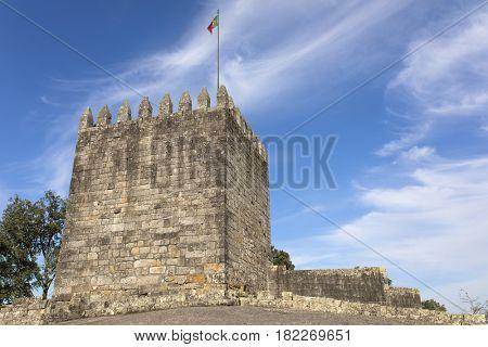 Castle of Povoa de Lanhoso in the top of Monte do Pilar, north of Portugal