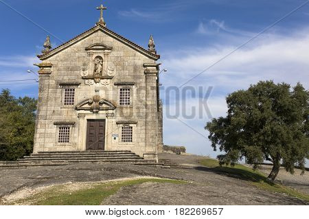 Church in the top of monte do Pilar - Povoa de Lanhoso, Portugal