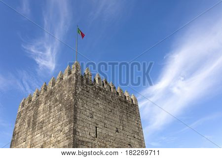 Tower of Povoa de Lanhoso castle, north of Portugal