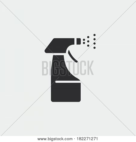 Spray bottle icon. Spray Pistol Cleaner Plastic Bottle